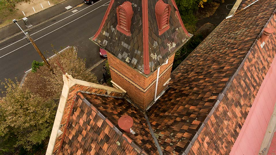 Aerial Roof Inspection with Drone